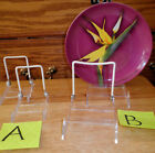 Tripar Acrylic Adjustable Easel W/ Back Wire Display 2 Small or 2 Med Free Ship