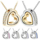 Hot Women Hollow Love Heart Necklace Long Chain Pageant Statement Jewelry