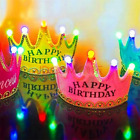 birthday party accessories for adults - LED Birthday Party Crown/ Hat for Kid Adult Costume Accessory Light Up Flashing