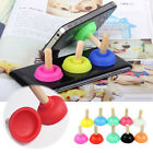 1/5x Plunger Holder Sucker Toilet Shape Wood Stand For Cell Phone PSP iPhone