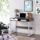 Wooden Computer Workstation Desk Truffle Oak Full Gloss Variety Brand New