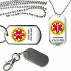 Personalized Medical Alert Type 1 Diabetic Dog Tag Key Chain Necklace Name Phone