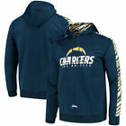 Los Angeles Chargers Zubaz Solid Pullover Hoodie - Navy/Gold $59.99 USD on eBay