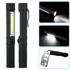 3x COB LED Pocket Pen Light Inspection Work Light Flashlight Torch with Clip