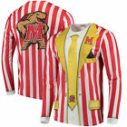 Maryland Terrapins Faux Real Apparel Faux Suit Long Sleeve Shirt - Multi image