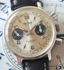 Vintage Sheffield Chronograph Watch Awesome Panda Dial Running Rare Valjoux 7730