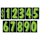 11 1/2 Inch Green & Black Numbers Windshield Pricing Sticker Car Dealer You Pick