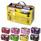 Women Bag Insert Organiser Handbag Travel Makeup Purse Wallet Pouch Organiser N8