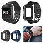 Rugged Protective Frame Case with Strap Bands For Fitbit Ionic Watch Sport Black