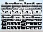 sport cars parts - GRIMMSPEED Performance Racing Cars Parts Stickers Decals Vinyl Sports 52Q