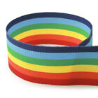 "1.5"" Rainbow Stripe Grosgrain Ribbon"