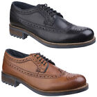 Cotswold Poplar Brogue Mens Dress Shoe Leather Lace Up Formal WIng Tip Footwear