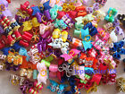 HANDMADE Dog bows pet Grooming hair gift charms mix double loop Accessories #S4