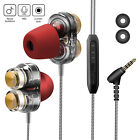 3.5mm In-Ear Earphones Bass Stereo Headphones Headset Earbuds With Microphone <br/> Waterproof / Two Drivers /Stereo Good Bass /USA Seller