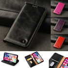 Real Genuine Leather Flip Wallet Slim Case Cover For New iPhone X 6 6S 7 8 Plus