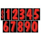 7 1/2 Inch Black & Red Numbers Windshield Pricing Stickers Car Dealer You Pick
