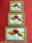 "ONE DOLLSHOUSE MINIATURE PICTURE ""POPPIES"" Wooden Frame Choice of Sizes Handmade"