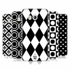 HEAD CASE DESIGNS BLACK AND WHITE PATTERNS HARD BACK CASE FOR HTC PHONES 1