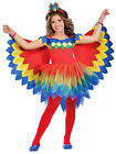 Girls Pretty Parrot Fairy Costume Childs Paradise Animal Bird Fancy Dress Outfit
