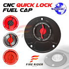 FRW Red CNC Quick Lock Fuel Cap x1 For Ducati SuperSport 1000DS All Year