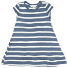 Billabong Last Time Nautical Dress Striped Bell Shape Loose Fit Girls Navy