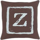 Stanley Feather/ Down or Poly Filled 20-inch Throw Pillow Brown