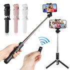 Extendable Selfie Stick Tripod Remote Bluetooth Shutter Fit For iPhone X 8 Plus