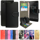 Leather Wallet Flip Case Cover For Sony Xperia Experia L1 + Free Screen Guard