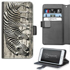 Elephant Phone Case PU Leather Side Flip Wallet Case For Apple Iphone 6,7,8, X