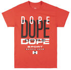 DOPE Sport Bougie Crew Replay T-Shirt Mens Red