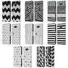 HEAD CASE DESIGNS BNW DOODLE LEATHER BOOK WALLET CASE COVER FOR SAMSUNG PHONES 2