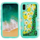Apple iPhone X XS Quicksand TUFF HYBRID Protector Case Skin Cover +Screen Guard