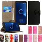 Luxury Magnetic Wallet Leather Flip Stand View Cover Card Hold For Alcatel Phone