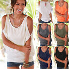 New Fashion Women T-shirt Off-shoulder Short Sleeve Casual Loose Tee Tops Blouse