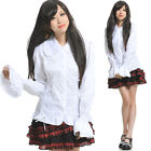 GLP 81106 PUNK VISUAL GOTHIC LONG SLEEVES SHIRT TOP WHITE