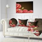 Designart 'Poppy Flowers Vector Art' Floral Be sick Pillow