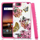 For ZTE Avid 4 Z855 HYBRID IMPACT Dazzling Diamond Layered Phone Case Cover