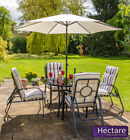 Hadleigh 4 Seater Reclining Steel Garden Dining Reversible Furniture Set Hectare