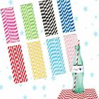 STRIPED STRIPES STRAWS PAPER DRINKING STRAWS RETRO CANDYSTRIPE PARTY PARTYWARE
