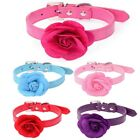 Cute Popular Floral Dog Fashion Collar Puppy Flower Faux PU Leather For Pet