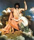 Zeus and Thetis (Classic Greek mythological art print)