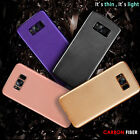 For Samsung Galaxy S7 S8 Plus Carbon Case Shockproof Silicone Protective Cover