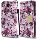For LG Fortune 2 Leather Wallet Case Pouch Flip Phone Protector Cover