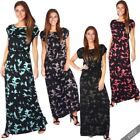 Womens Ladies Boho Oversized Loose Jersey Long Maxi Summer Dress Casual Party