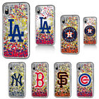For iPhone X Case Official MLB Flowing Waterfall Liquid Glossy Shiny Stars Cover