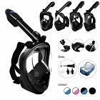 Full Face Anti-Fog Swimming Mask Surface Diving Snorkeling Scuba For GoPro USA