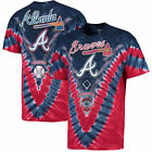 Atlanta Braves V Tie-Dye T-Shirt - Navy/Red on Ebay