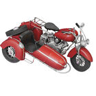Vintage Handmade Classic Metal Motorcycle Model Antiqued Home Decor Toy