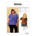 Butterick 6396 Sewing Pattern to MAKE Asymmetical-Overlay Top XS-XL or XXL-6XL