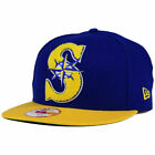 Seattle Mariners MLB The LetterMan Snapback New Era 950 Flat Bill Brim Hat Cap S